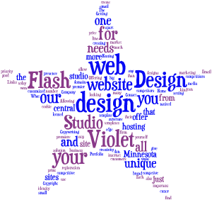 Violet Flash - Word Cloud Graphic